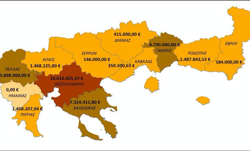 Αιτήσεις στήριξης για έργα συνολικού προϋπολογισμού 38.000.000,00€ στο Πρόγραμμα Αγροτικής Ανάπτυξης  2014-2020 υπέβαλε η Αποκεντρωμένη Διοίκηση Μακεδονίας-Θράκης